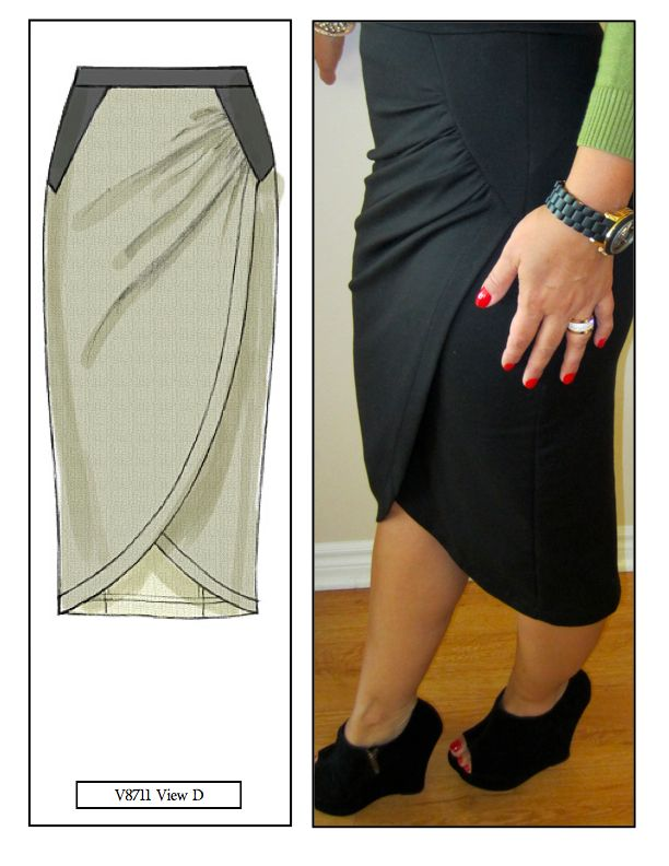 mimi g.: DIY Skirt: Pattern Review V8711 View D:
