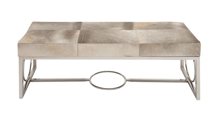 The Simple Stainless Steel Real Leather Bench