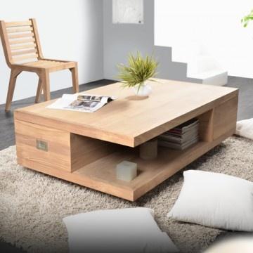 Table basse en Teck 120 x 70 Coffee Tek by Tikamoon. H 40 x L 120 x P 70 cm. Cliquez sur l'image pour plus de détails et photos.