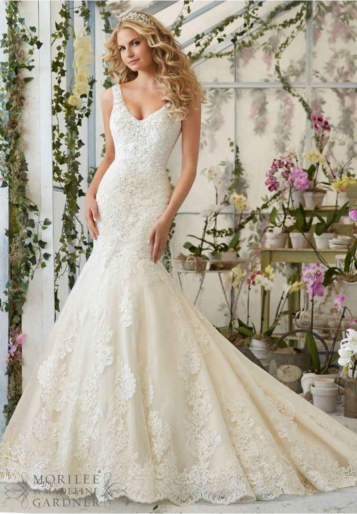 78 best Mori Lee Bridal Gowns images on Pinterest | Wedding frocks ...
