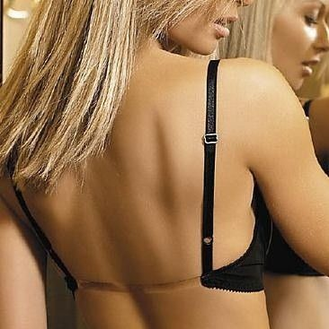 Perfect Backless Bra with invisible low back strap! Thats what I'm talking about! Yes now I can buy shirts that have an open back!