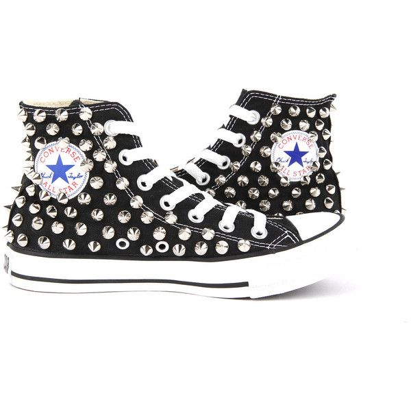 Original Converse AllStar Chuck Taylor high top studded Converse stud... ($130) ❤ liked on Polyvore