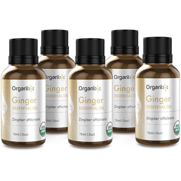 Ginger Essential Oil 5 Bottles