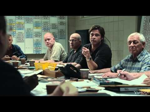 Moneyball. Starring Brad Pitt and Jonah Hill, what a funny guy!