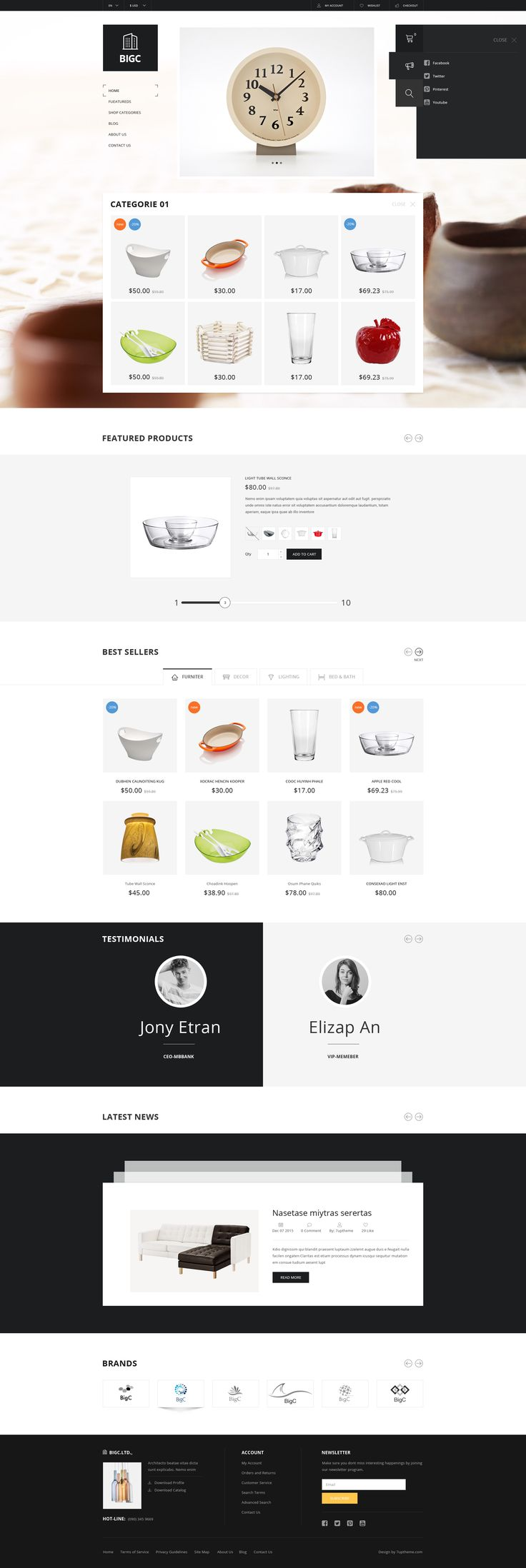 Theme Features 23 layered PSD files. Based on 1200px grid system. Full width: 1920px. 06 page products (Grid products, Listing Products, Detai...