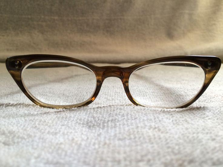 Vintage 1950s Woman's Cat Eyeglasses Beautiful | eBay