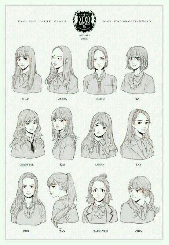 EXO version girls school..