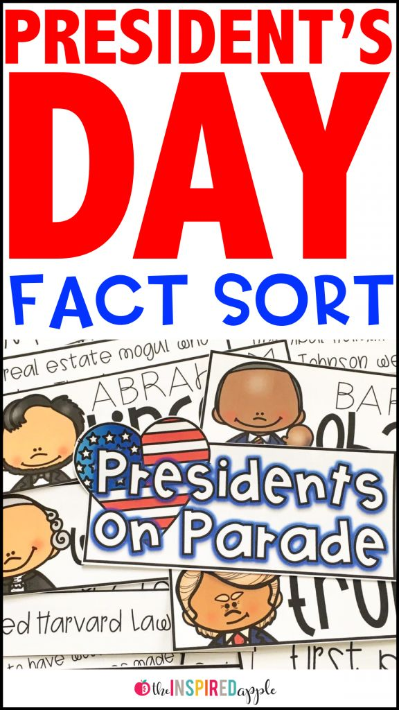 Check out this fun Presidents' Day activity perfect for kindergarten, first grade, and second grade students! Your kids will love to learn fun facts about George Washington, Abraham Lincoln, Barack Obama, and Donald Trump. Sort the facts as a whole class