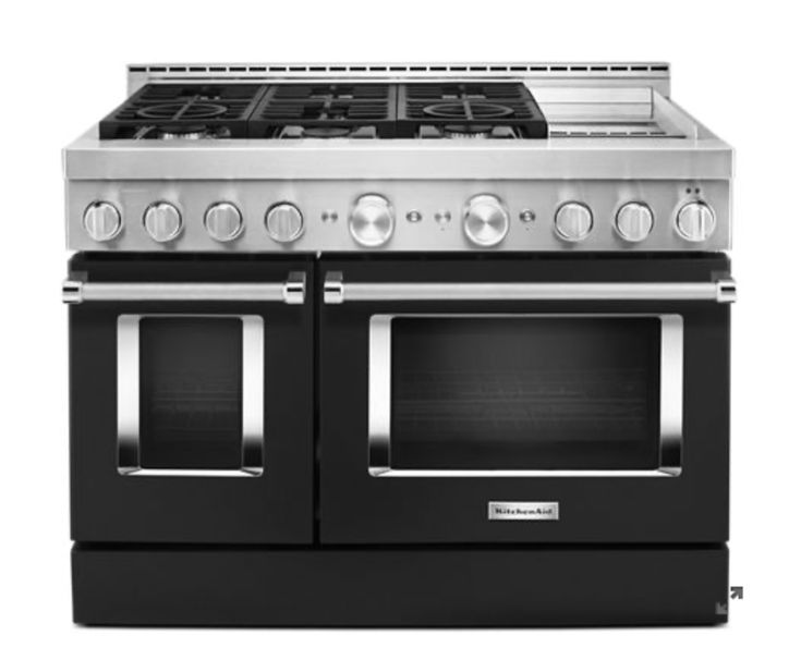 Imperial black kitchenaid 48 smart commercialstyle gas