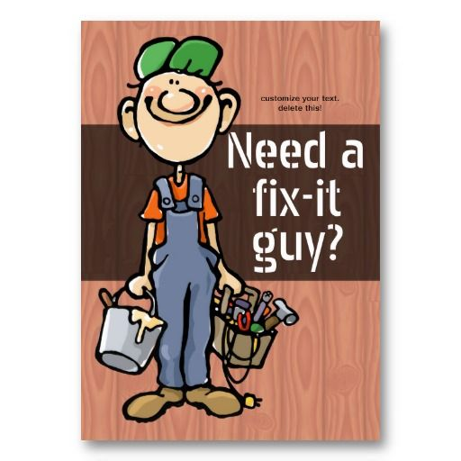 7 best handyman cards images on pinterest business card design job hunting handyman fix it carpenter painter business card colourmoves Image collections