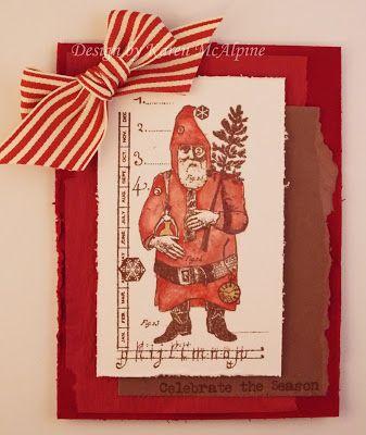 Vintage Santa holiday cards