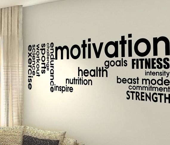 Motivation Goals Exercise Cardio Pain Focus Gym Love Hobby Workout Life Quote Wall Vinyl Decals Stickers Art Decor Bedroom Home Hiness