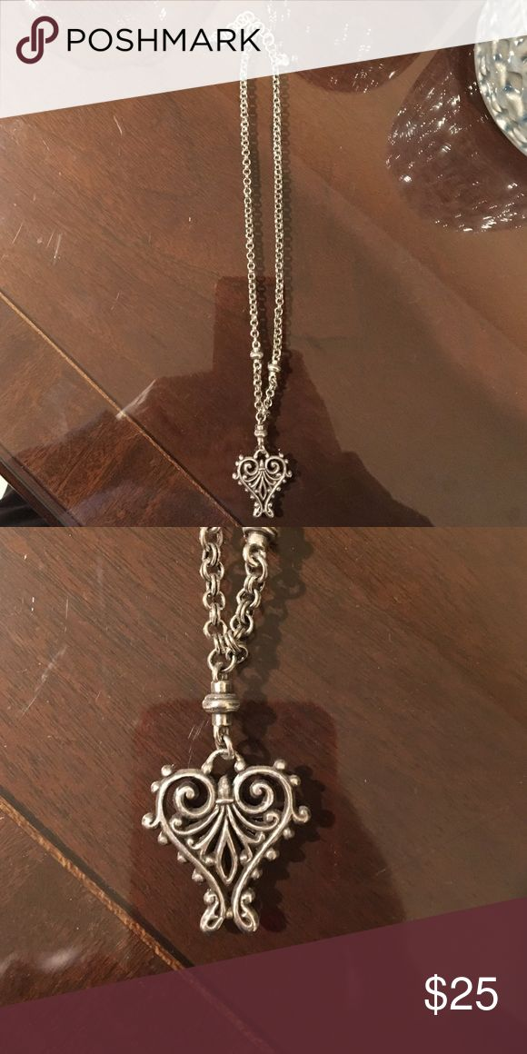 Brighton necklace Silver Brighton necklace with heart Brighton Jewelry Necklaces