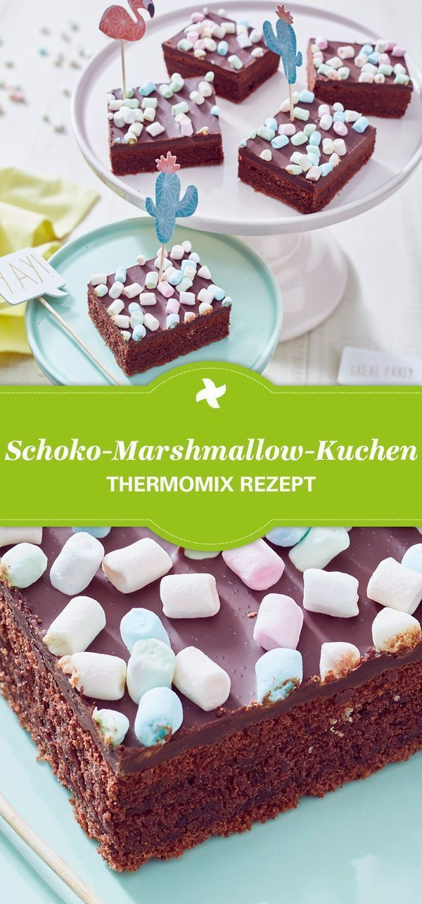 Heute verzieren wir unseren Kuchen mit Marshmallows. Herrlich saftiger Schoko-Ma…