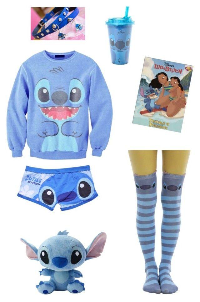 """Little Stitch"" by damageddoll ❤ liked on Polyvore featuring men's fashion, menswear, stitch, ddlg, mdlb and ddlb"