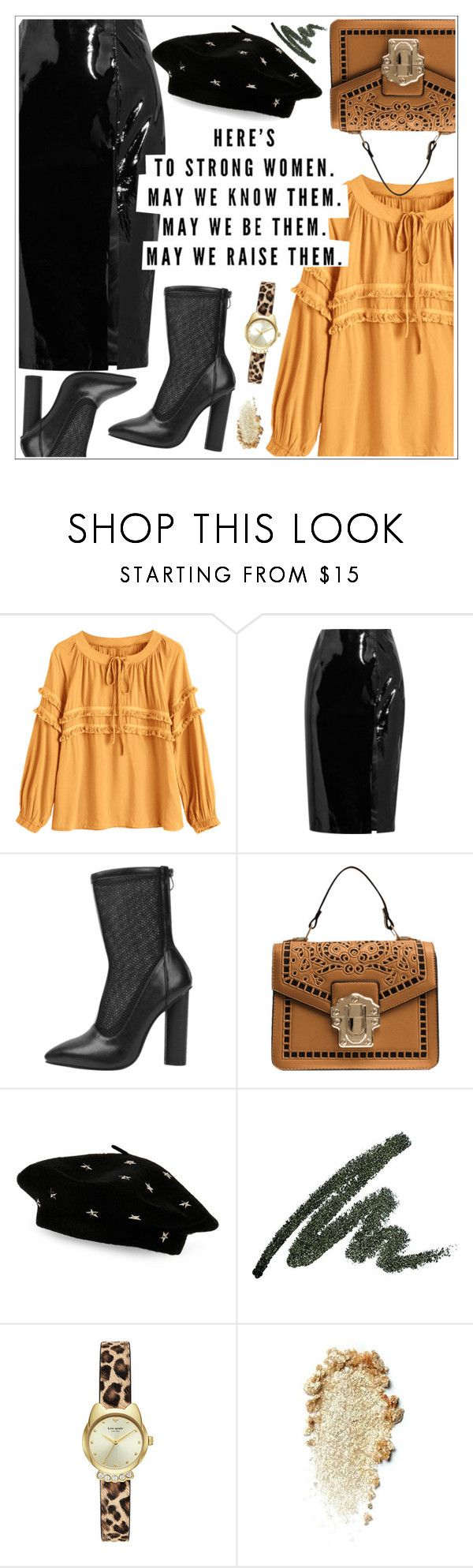 """""""Here's to strong women"""" by teoecar ❤ liked on Polyvore featuring Topshop Unique and Steve Madden"""