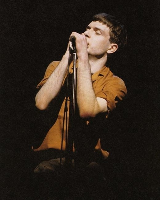 Ian Curtis in concert, The Rainbow Theatre, Finsbury Park, London, 4 April, 1980