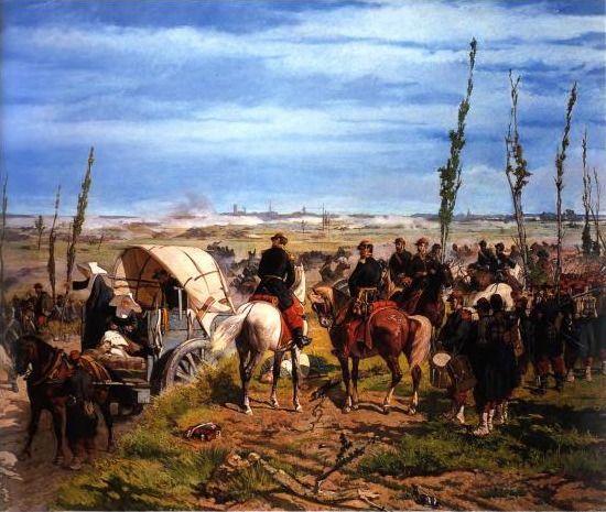 senza dedica: Giovanni Fattori, Il campo italiano alla battaglia...