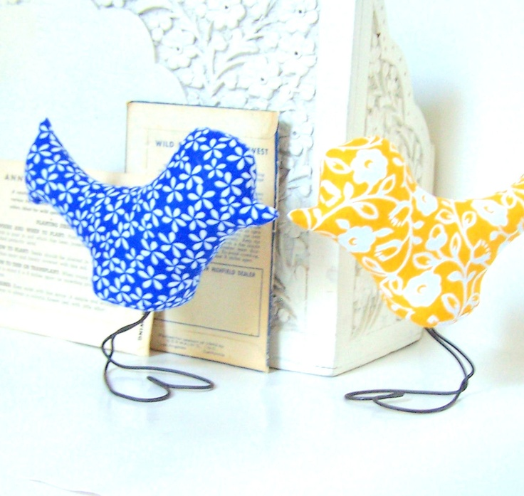 Wedding Cake Topper Love Bird Cobalt Blue Sunshine Yellow