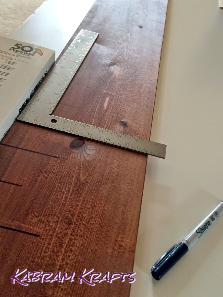 DIY Wooden Growth Ruler Chart by Kabram Krafts