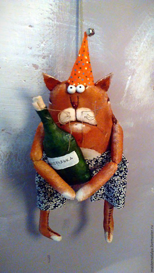 Игрушки животные, ручной работы. Ярмарка Мастеров - ручная работа. Купить Рыжий кот день рождения... Handmade. Комбинированный
