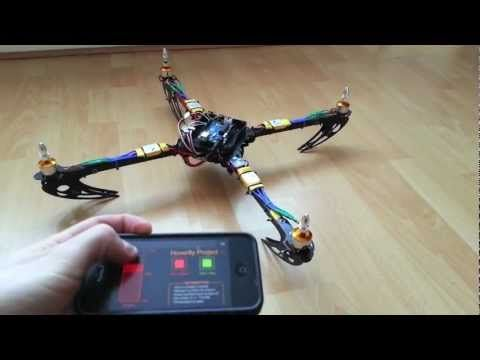 Arduino Quadcopter - Phase 2 (Mobile Control) - controlled with an iPhone