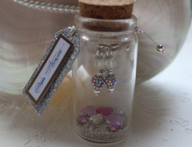 Ohrschmuck - Engel im Glas  Strass Ohrringe lila Ohrhänger  - ein Designerstück von art4you bei DaWanda