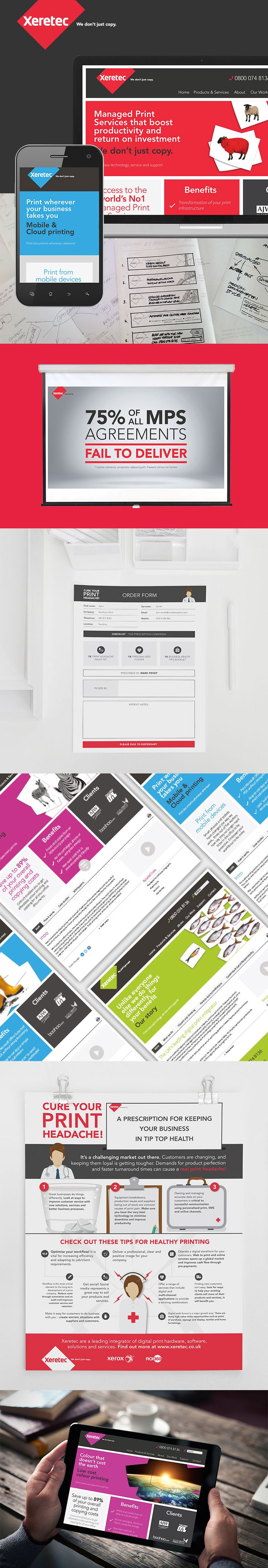 Xeretec - Branding -  Design - Corporate Website - Poster - Presentation - Form - Screen Mockup
