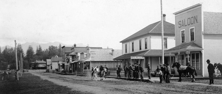 ... Street Fall City 1906. Horse race! | Snoqualmie Valley History