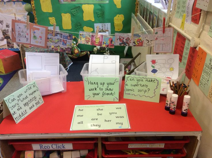 Superhero and comic writing! #writingineyfs #getboyswriting #eyfs #reception #superherowriting