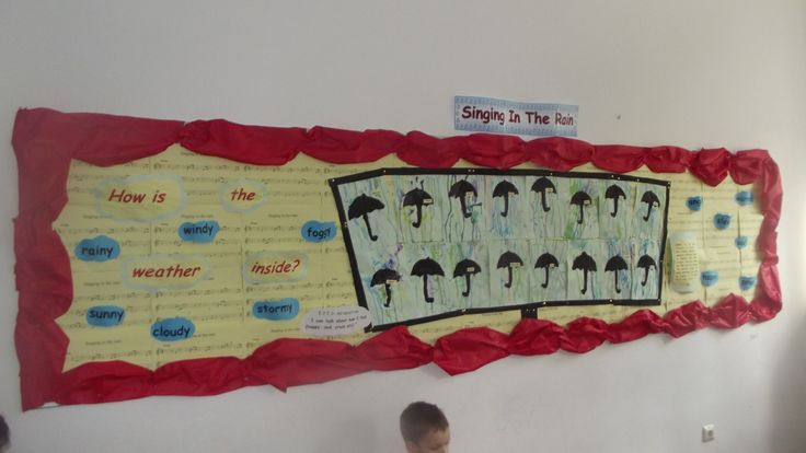 Singing in the Rain display in Rainbows (the weather inside) @ Acorns Nursery Bucharest