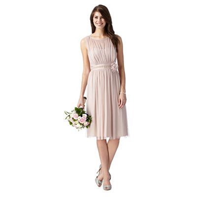Debut Rose mesh corsage dress- | Debenhams