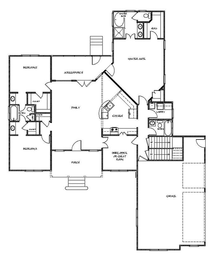 Country craftsman house plan 92385 house plans pocket for Log home floor plans with garage and basement