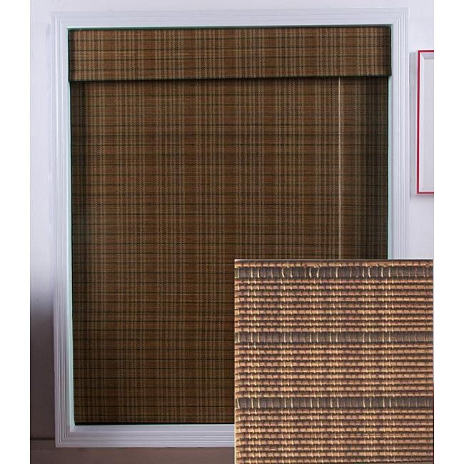 give a warm and appealing touch to your home decor with a roman shade window treatment - Bamboo Window Shades