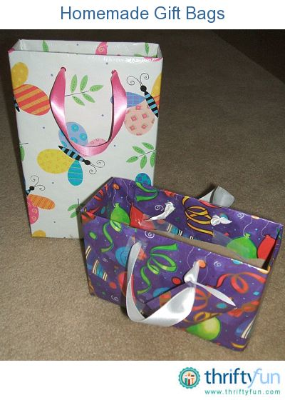 If you don't have the right size gift bag on hand, create your own by recycling a box. These are much sturdier than gift bags and can be used over and over again.