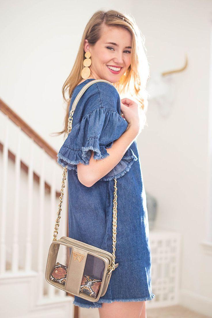 35 Denim Ruffle Sleeve Dress A Lonestar State Of Southern Denim Dress Summer Denim Ruffle Dress Trendy Summer Outfits [ 1104 x 736 Pixel ]