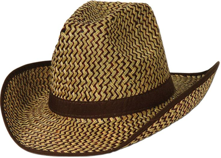 wholesale2-Tone Western Hat with Brown Trim & Band (Case of 60)