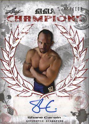 2010 Leaf MMA Champions Autographs Red Card #CHSC1 Shane Carwin/100