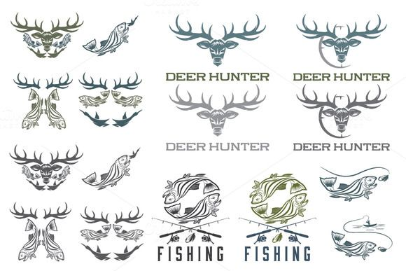 Check out Fishing and Hunting by UVAconcept on Creative Market