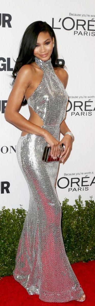 Chanel Iman in Jewelry – Harry Kotlar  Dress – Kaufman Franco  Shoes – Jerome C. Rousseau
