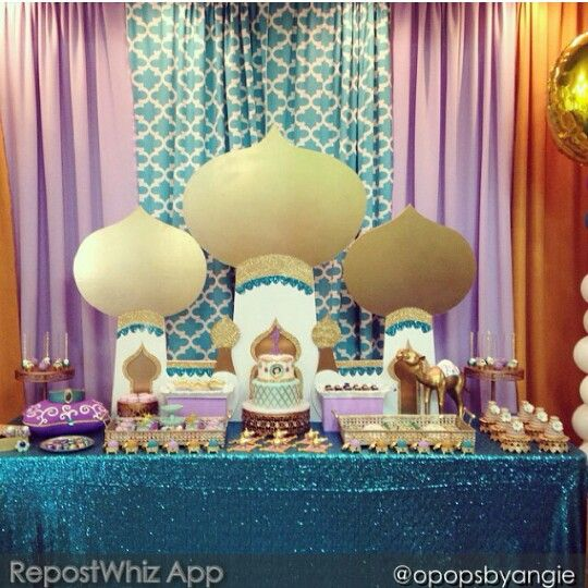 17 best ideas about aladdin birthday party on pinterest for Aladdin decoration ideas