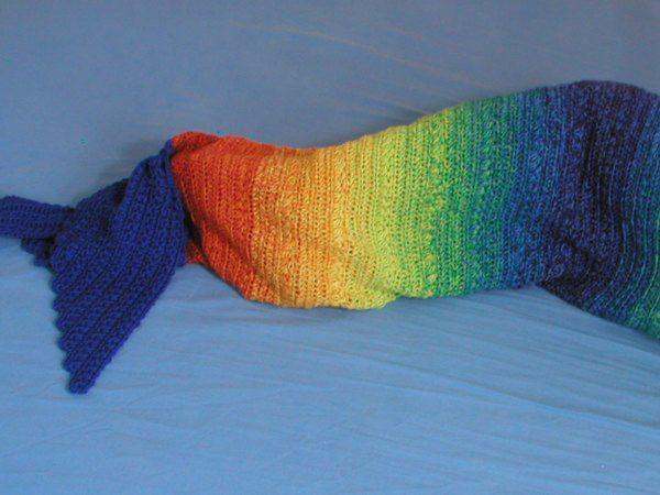 Regenbogen-Meerjungfrauendecke