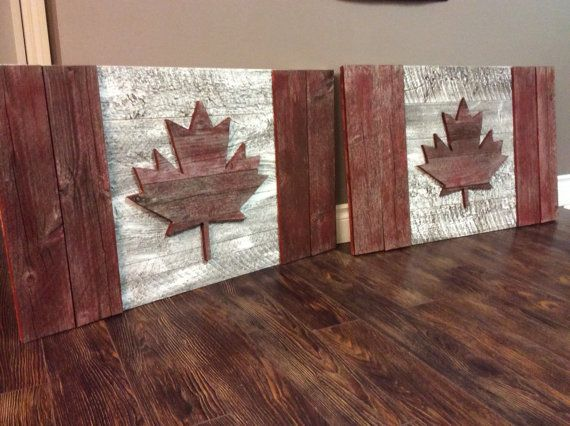 Canadian flag barnwood by KippyskornerCanada on Etsy