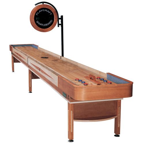 Playcraft Telluride Shuffleboard Table With 3 In Playfield And Electric Scorer