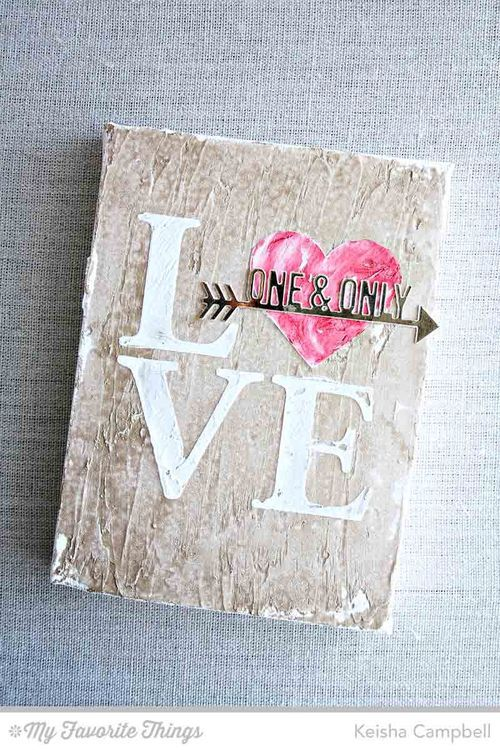 Straight to My Heart Die-namics, Love Stencil - Keisha Campbell #mftstamps