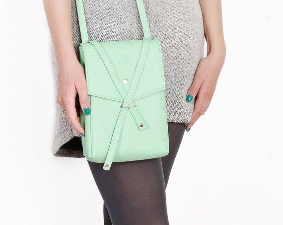 """Crossbody bag """"Floria"""", mint bag"""