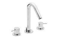 Contemporary Widespread Faucet Metal Cylinder Handles