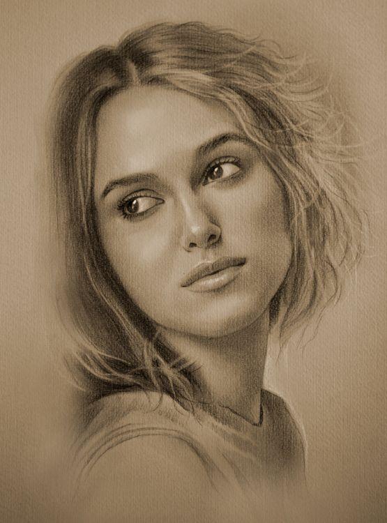 Celebrity Pencil Portraits - Keira Knightley
