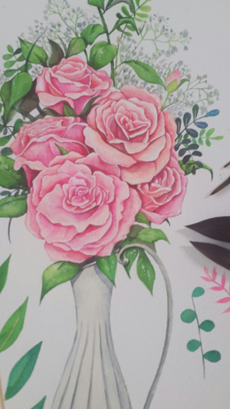 장미,꽃, rose,flower,수채화, rose illust
