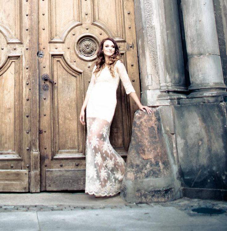 lace dress, wedding dress,